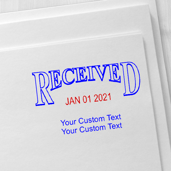 Received Custom Date Stamp on envelope
