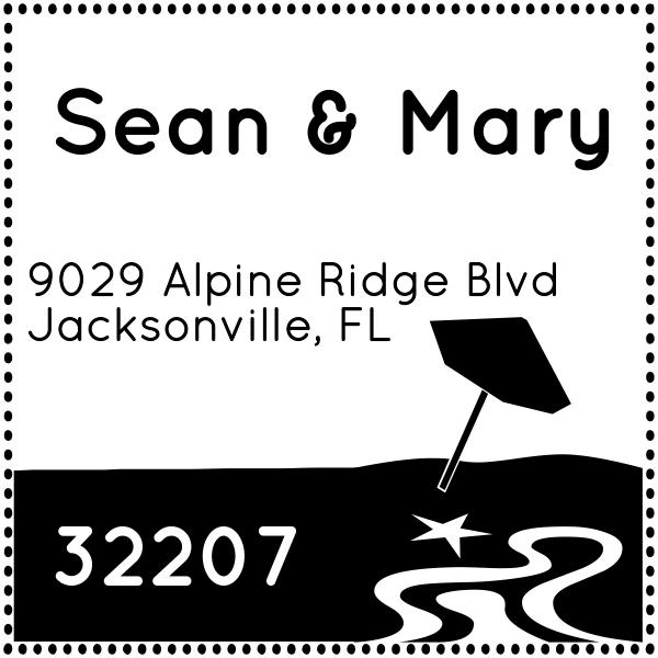 Beachside Address Stamp