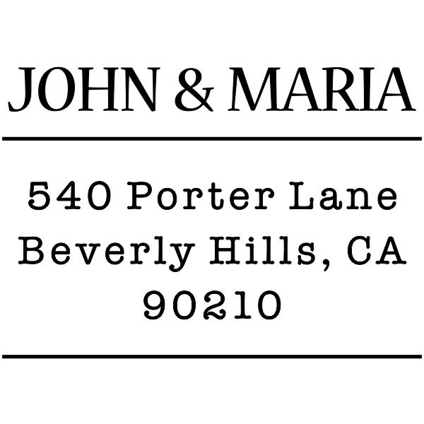 Sleek Type Address Stamp