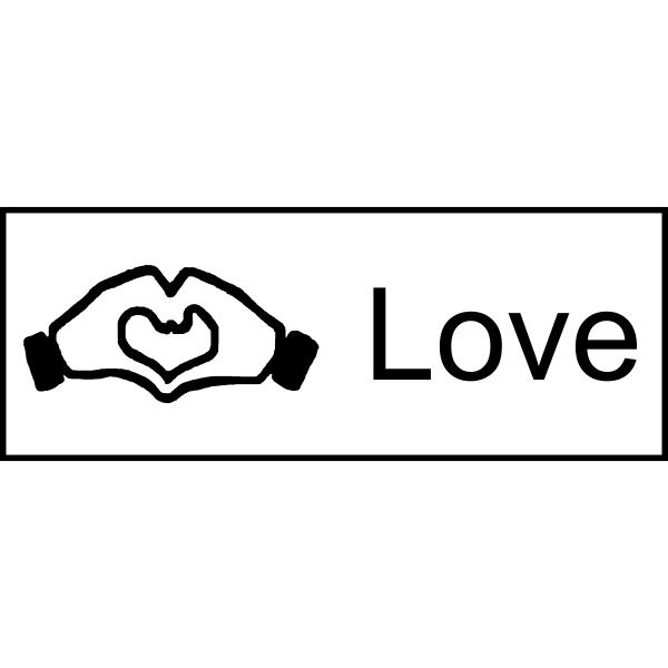 Facebook love rubber stamp