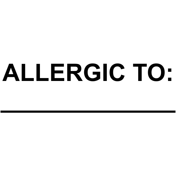 Small Allergic To Medical Stamp