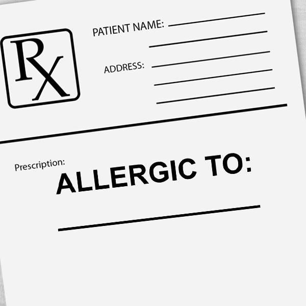 Allergic To Medical Stamp Imprint Example