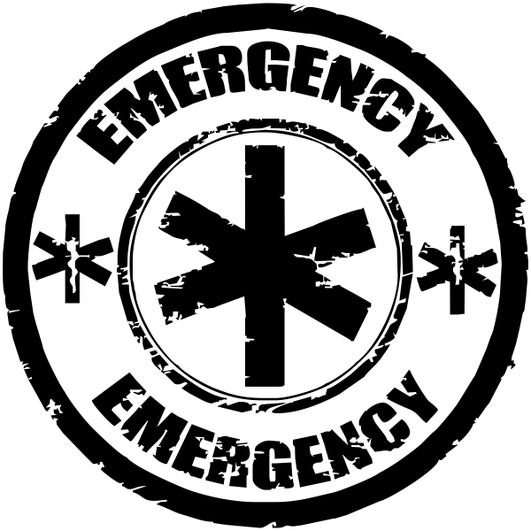 Custom Medical Emergency Round Stamp