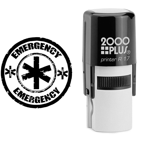 Round Emergency Stamp Body and Design