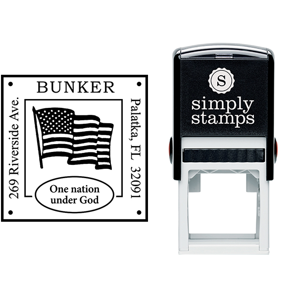 Patriotic Address Stamp Body and Design