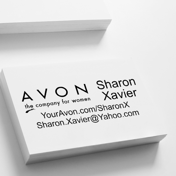 Custom Avon Consultant Stamp Style 2 Imprint Example