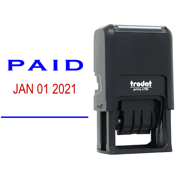 Paid Date Stamp and Imprint Example