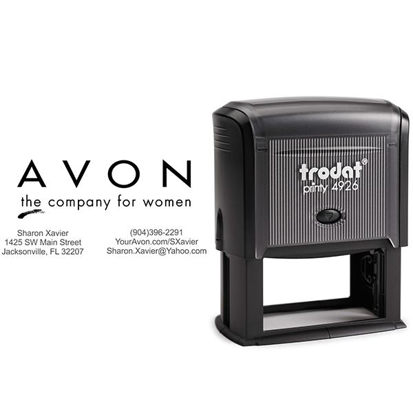 Custom Avon Consultant Stamp Style 3 Body and Design