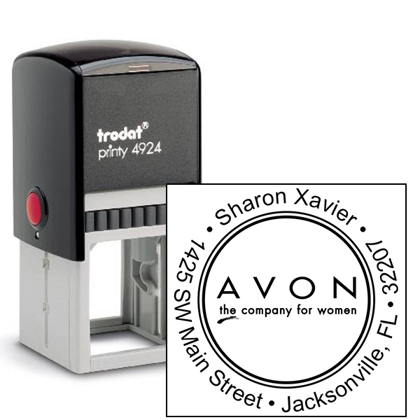 Round Custom Avon Consultant Stamp Style 4