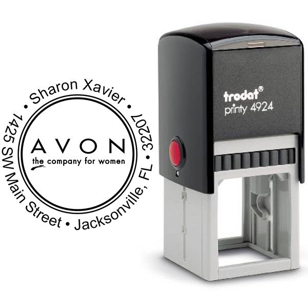 Round Custom Avon Consultant Stamp Style 4 Body and Design