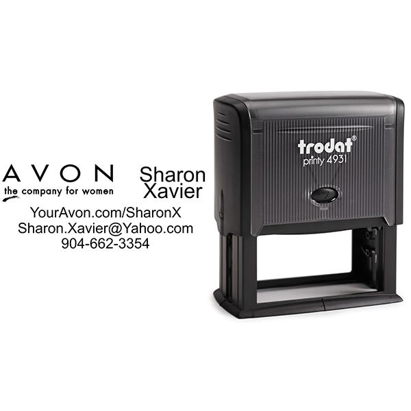 Custom Avon Consultant Stamp Style 6 Body and Design