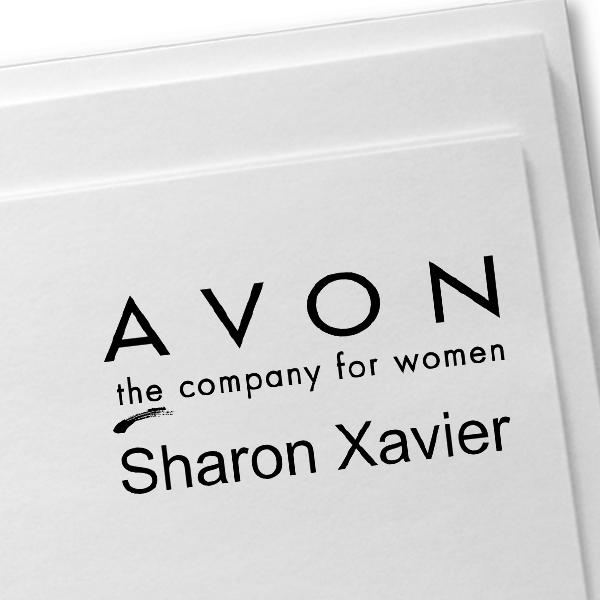 Custom Avon Consultant Stamp Style 8 Imprint Example