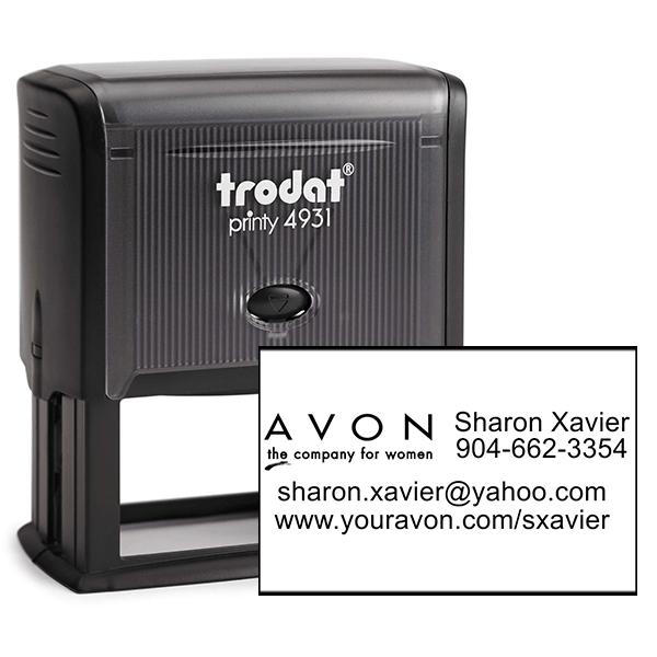 Custom Avon Consultant Stamp Style 9
