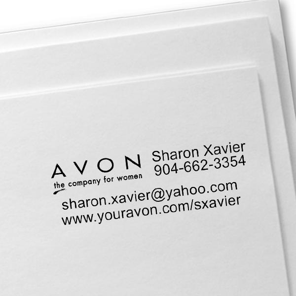 Custom Avon Consultant Stamp Style 9 Imprint Example