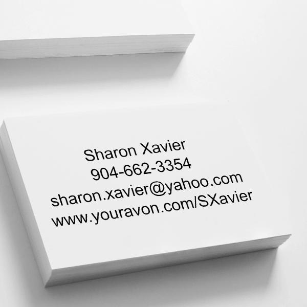 Custom Avon Consultant Stamp Style 10 Imprint Example