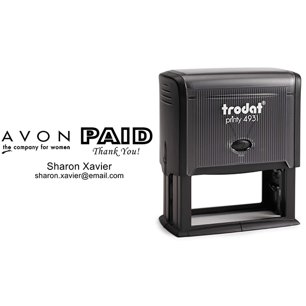 Custom Avon Consultant Stamp Style 12 Body and Design