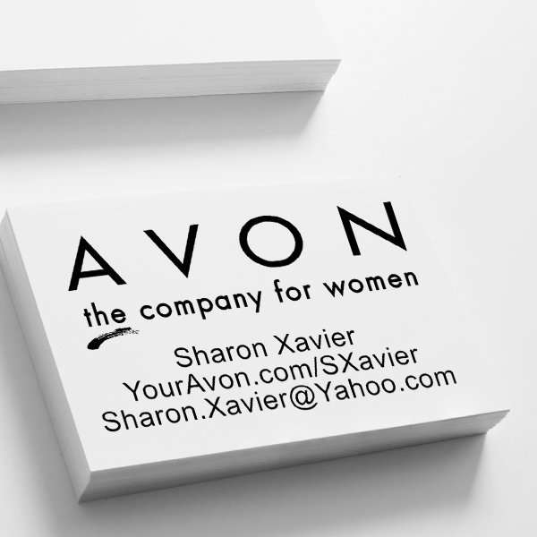 Avon Catalog Stamp Style 1 Imprint Example