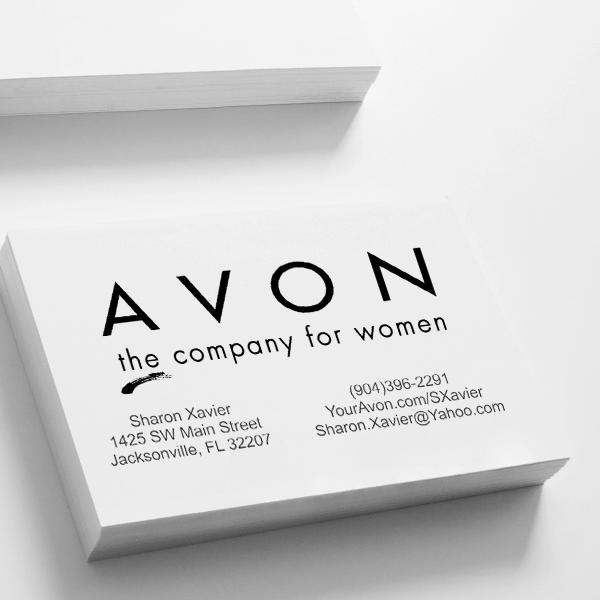 Avon Catalog Stamp Style 3 Imprint Example