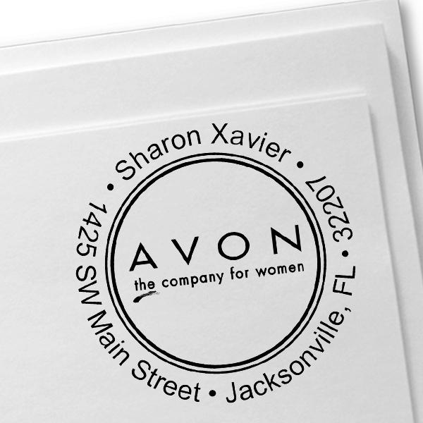 Avon Catalog Stamp Style 4 Imprint Example