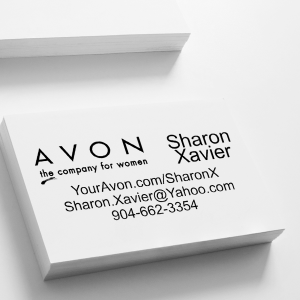 Avon Catalog Stamp Style 6 Imprint Example