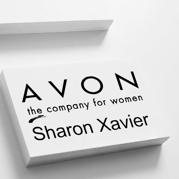 Avon Catalog Stamp Style 8 Imprint Example