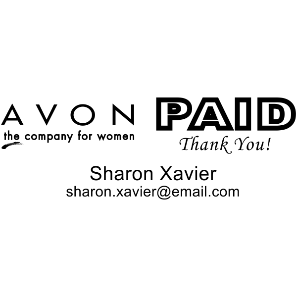 Paid Avon Catalog Stamp Style 12