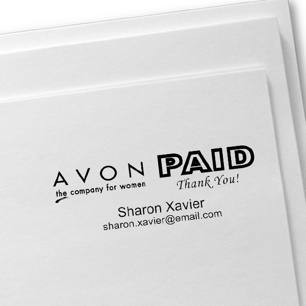 Paid Avon Catalog Stamp Style 12 Imprint Example