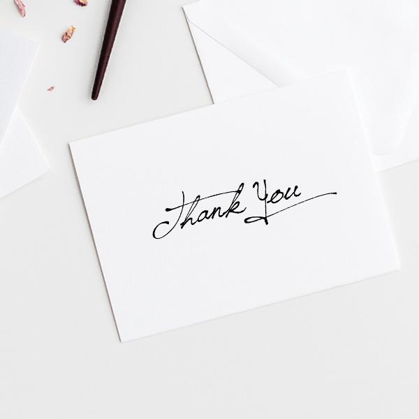 Elegant Thank You Stamp Imprint Example