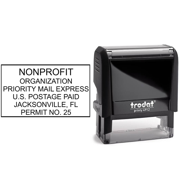 Non-Profit Organization Postage Permit Stamp  Body and Design
