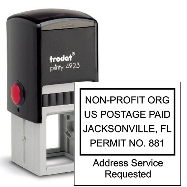Non-Profit Postage Paid Stamp   Address Service Request