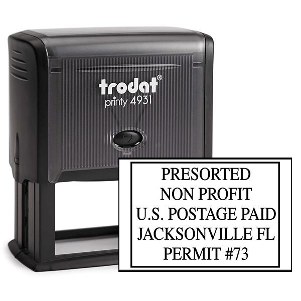 Pre-Sorted Non-Profit Postage Paid Permit Stamp
