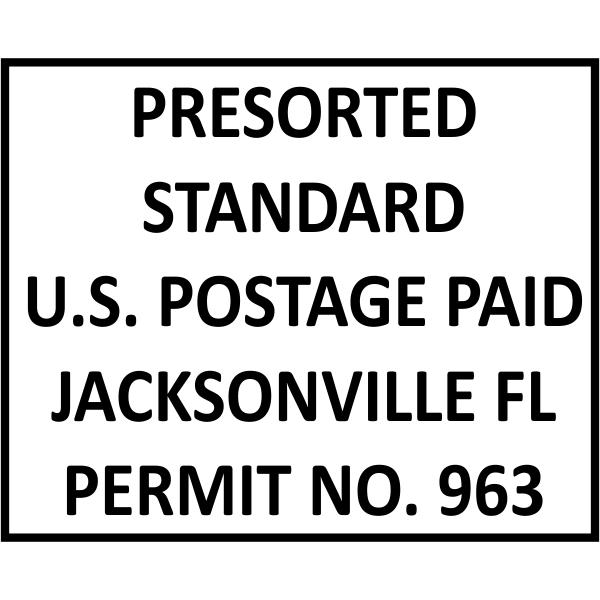 Postage Paid Permit   Presorted Standard Imprint Example