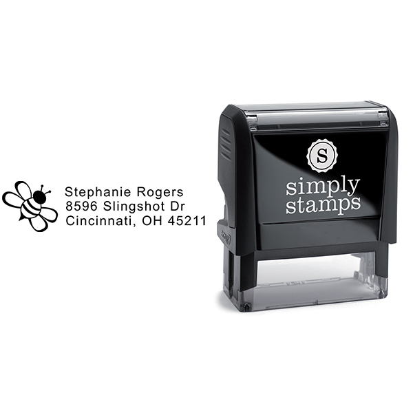 Bumble Bee Address Stamp Body and Design