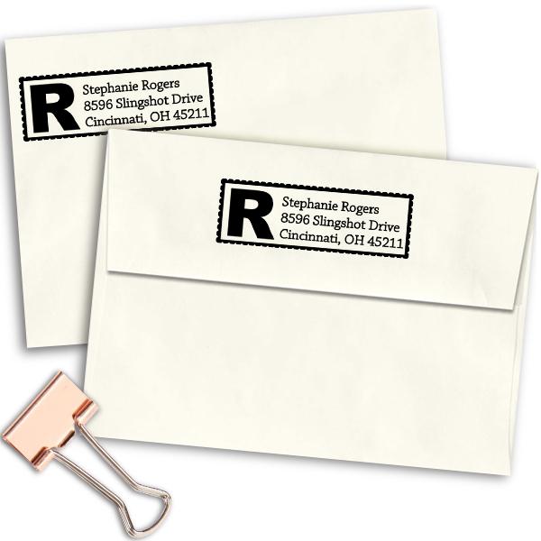 Bold Letter Address Stamp Imprint Example