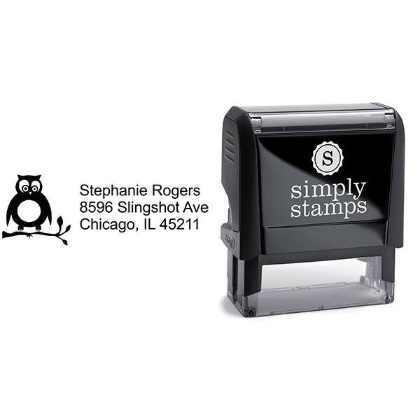 Cute Owl Address Stamp Body and Design