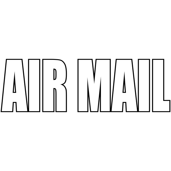 Airmail - Stock Stamp Imprint