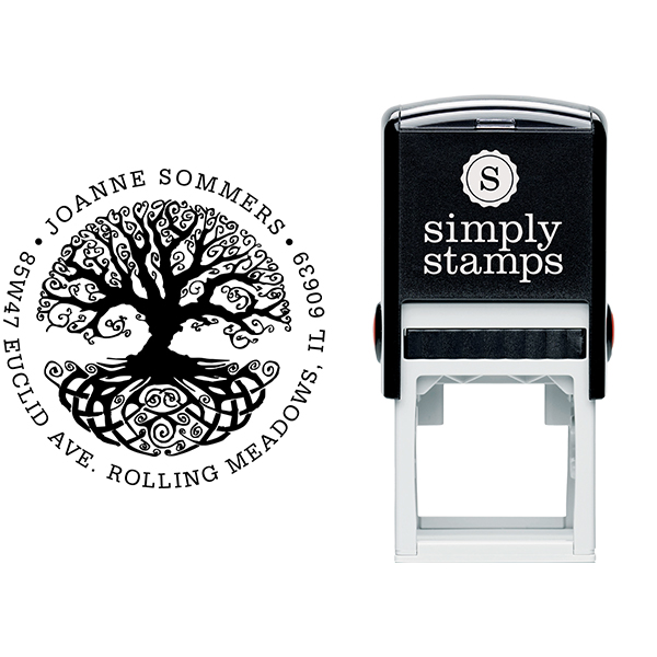 Tree of Life Return Address Stamp Body and Design