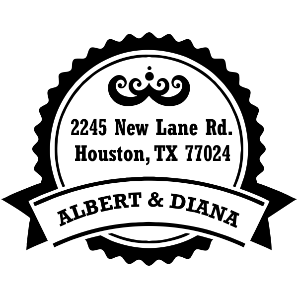 Diana Round Return Address Stamp