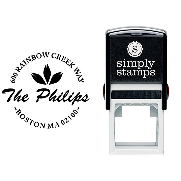 Phillips Round Return Address Stamp Body and Design
