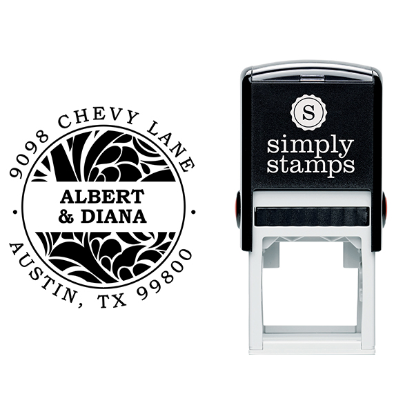 Albert Round Return Address Stamp Body and Design
