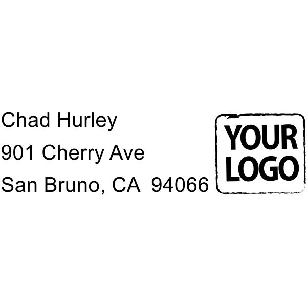 Custom Logo 3 Line Address Stamper