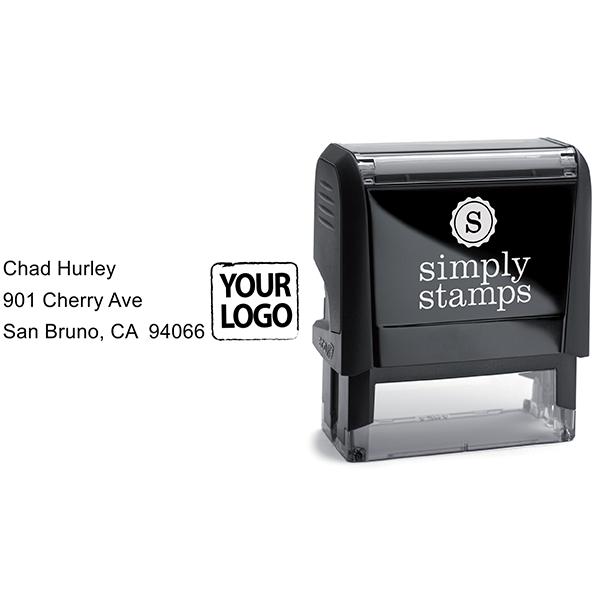 Custom Logo Address Stamp Body and Design