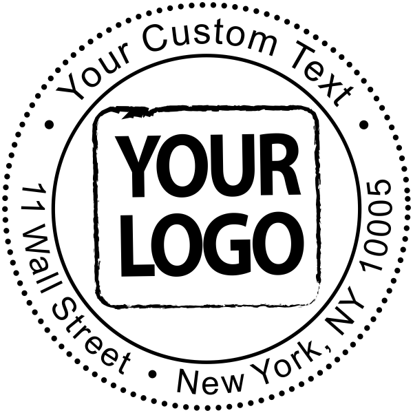 Custom Logo Round Address Stamp