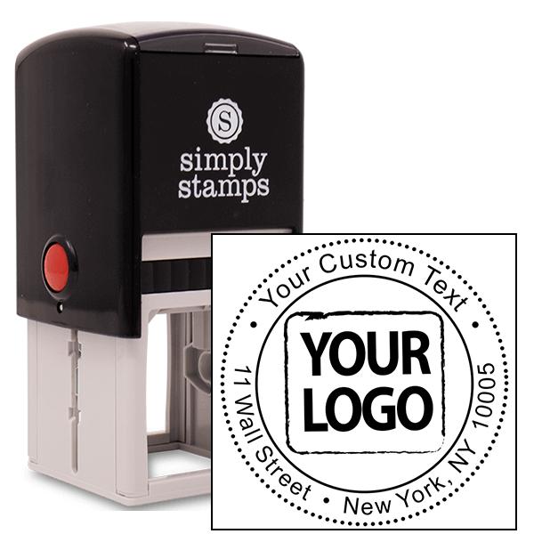 Custom Logo Round Address Stamp Body and Imprint