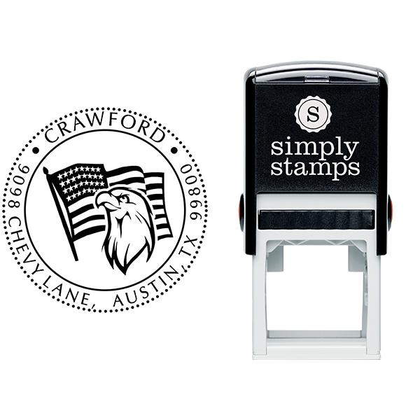 Eagle Freedom Return Address Stamp Body and Design