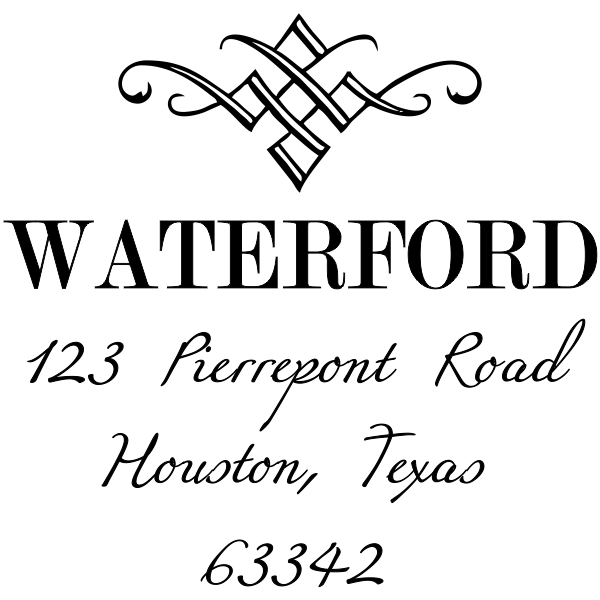 Waterford Diamond Address Stamp