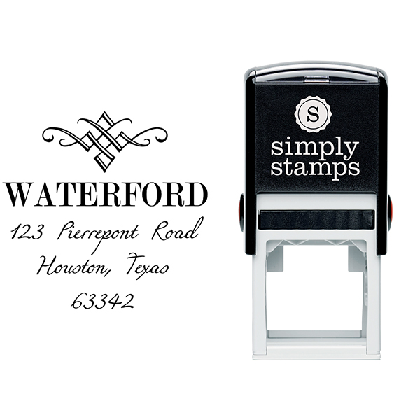 Waterford Diamond Address Stamp Body and Design