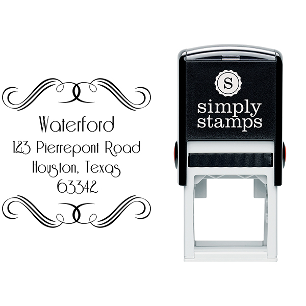 Waterford Curves Address Stamp Body and Design