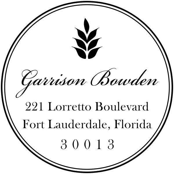 Garrison Round Address Stamp