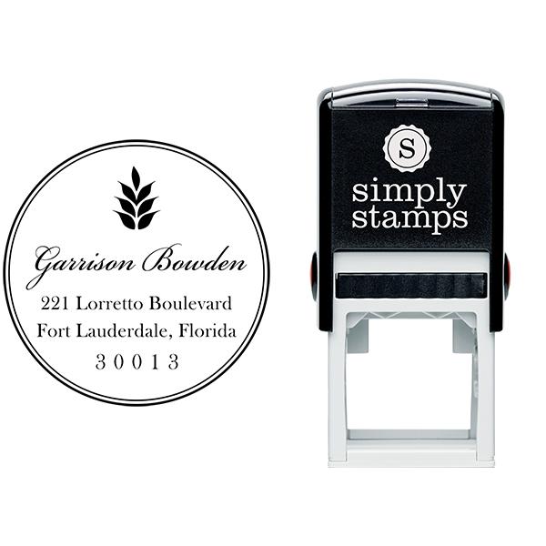 Garrison Round Address Stamp Body and Design